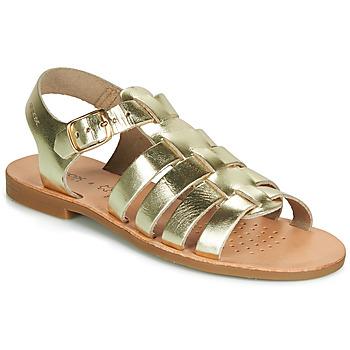 鞋子 女孩 涼鞋 Geox 健樂士 J SANDAL VIOLETTE GI 金色