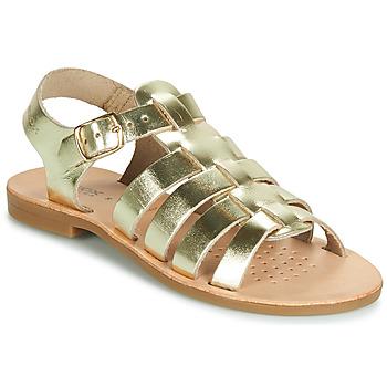 鞋子 女孩 凉鞋 Geox 健乐士 J SANDAL VIOLETTE GI 金色