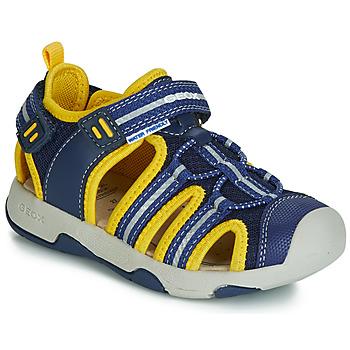 鞋子 男孩 涼鞋 Geox 健樂士 B SANDAL MULTY BOY 藍色 / 黃色