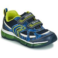 鞋子 男孩 球鞋基本款 Geox 健乐士 J ANDROID BOY 海蓝色 / 黄色 / Led