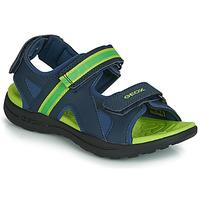 鞋子 男孩 運動涼鞋 Geox 健樂士 J GLEEFUL BOY 藍色 / 黃色