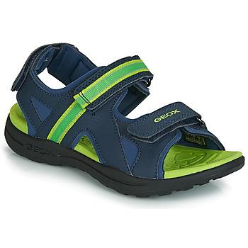 鞋子 男孩 运动凉鞋 Geox 健乐士 J GLEEFUL BOY 蓝色 / 黄色