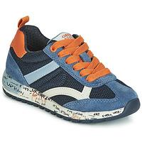 鞋子 男孩 球鞋基本款 Geox 健乐士 J ALBEN BOY 海蓝色 / 橙色