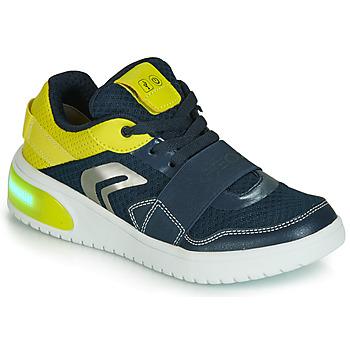 鞋子 男孩 球鞋基本款 Geox 健乐士 J XLED BOY 蓝色 / 黄色 / Led
