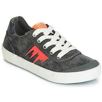 鞋子 男孩 球鞋基本款 Geox 健乐士 J KILWI BOY 灰色 / 橙色