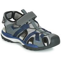 鞋子 男孩 运动凉鞋 Geox 健乐士 J BOREALIS BOY 灰色 / 海蓝色