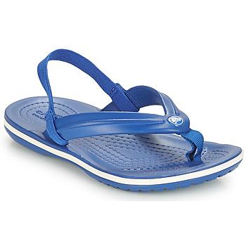 鞋子 兒童 人字拖 crocs 卡駱馳 CROCBAND STRAP FLIP K 藍色