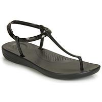 鞋子 女士 人字拖 FitFlop IQUSHION SPLASH - PEARLISED 黑色