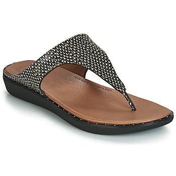 鞋子 女士 涼鞋 FitFlop BANDA II DOTTED-SNAKE  natural / Snake