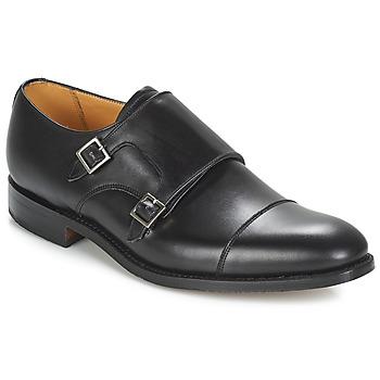 鞋子 男士 系带短筒靴 Barker TUNSTALL 黑色