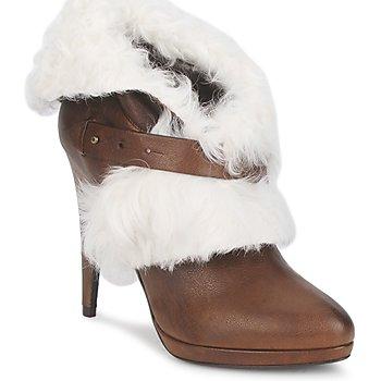 鞋子 女士 短靴 Roberto Cavalli 罗伯特·卡沃利 QPS586-PJ027 棕色 / 白色