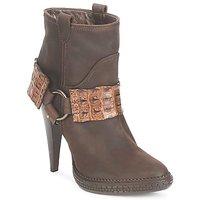 鞋子 女士 短靴 Roberto Cavalli 罗伯特·卡沃利 QPS577-PK206 棕色