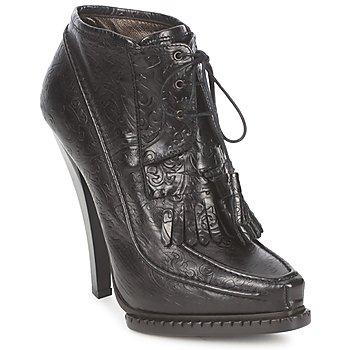 鞋子 女士 短靴 Roberto Cavalli 罗伯特·卡沃利 QDS640-PZ030 黑色