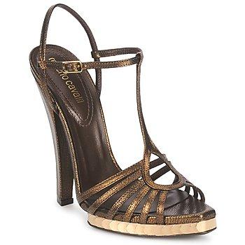 鞋子 女士 凉鞋 Roberto Cavalli 罗伯特·卡沃利 QDS627-PM027 古銅色