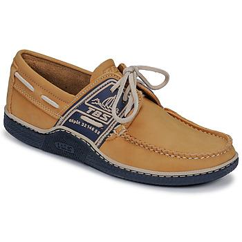 鞋子 男士 船鞋 TBS GLOBEK 黃色 / 海藍色