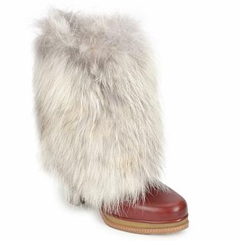 鞋子 女士 短靴 D&G DS3553 棕色 / 米色
