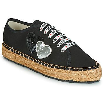 鞋子 女士 帆布便鞋 Love Moschino JA10263G07 黑色