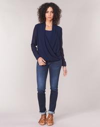衣服 女士 直筒牛仔裤 Le Temps des Cerises PULP REGULAR 蓝色