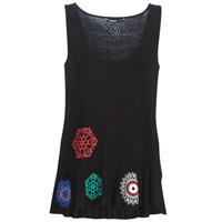 衣服 女士 無領短袖套衫/無袖T恤 Desigual MELISA 黑色