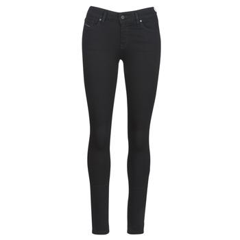 衣服 女士 紧身牛仔裤 Diesel 迪赛尔 SLANDY 黑色