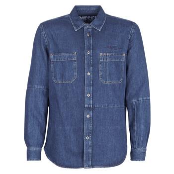 衣服 男士 长袖衬衫 Diesel 迪赛尔 D FRED 蓝色