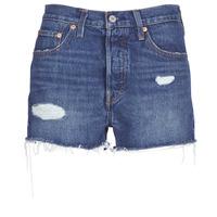 衣服 女士 短裤&百慕大短裤 Levi's 李维斯 502 HIGH RISE SHORT 蓝色 / Edium