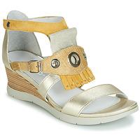 鞋子 女士 凉鞋 Regard RUBIKA V3 VEL JAUNE 黄色