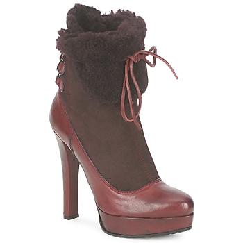 鞋子 女士 短靴 Sebastian Milano ELIATY 波爾多紅