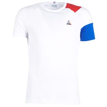 衣服 男士 短袖体恤 Le Coq Sportif 乐卡克 ESS Tee SS N°10 M 白色 / 红色 / 蓝色