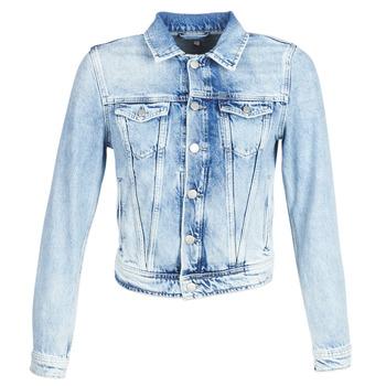 衣服 女士 牛仔外套 Pepe jeans CORE 蓝色 / 米色