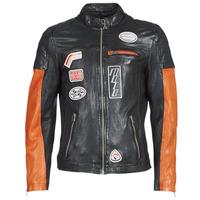 衣服 男士 皮夹克/ 人造皮革夹克 Oakwood INDIE 黑色 / 橙色