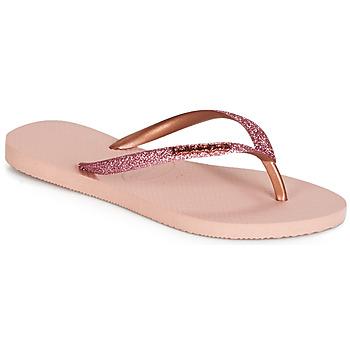 鞋子 女士 人字拖 Havaianas 哈瓦那 SLIM GLITTER 玫瑰色