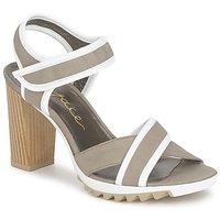 鞋子 女士 凉鞋 Espace GENIEVRE 灰色 / 白色