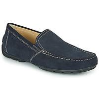 鞋子 男士 皮便鞋 Geox 健樂士 MONET 藍色
