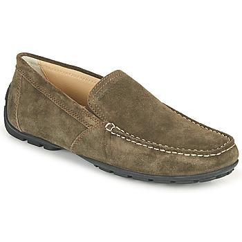 鞋子 男士 皮便鞋 Geox 健乐士 MONET 咖啡色