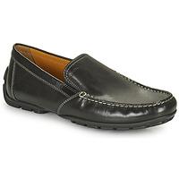 鞋子 男士 皮便鞋 Geox 健乐士 MONET 黑色