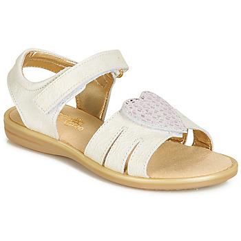 鞋子 女孩 涼鞋 Citrouille et Compagnie JAFILOUTE 白色