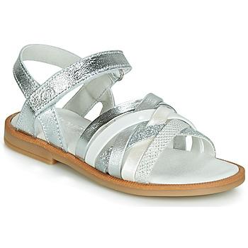 鞋子 女孩 凉鞋 Citrouille et Compagnie JIRAFOU 银灰色