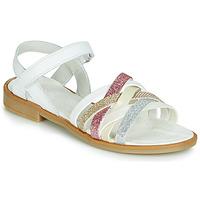 鞋子 女孩 涼鞋 Citrouille et Compagnie JARILOU 白色