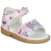 鞋子 女孩 凉鞋 Citrouille et Compagnie JARILOUTE 玫瑰色