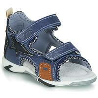 鞋子 男孩 凉鞋 Citrouille et Compagnie JATILEME 蓝色 / 米色