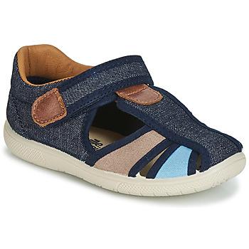 鞋子 男孩 凉鞋 Citrouille et Compagnie JOLIETTE 牛仔 / 蓝色 / 米色