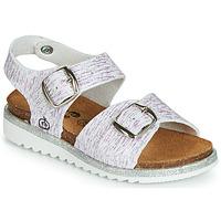 鞋子 女孩 凉鞋 Citrouille et Compagnie JANETTA 白色 / 紫罗兰