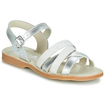 鞋子 女孩 凉鞋 Citrouille et Compagnie JAGUINOIX 灰色 / 银灰色