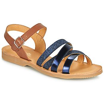 鞋子 女孩 凉鞋 Citrouille et Compagnie JOLICOTE 海蓝色 / 驼色
