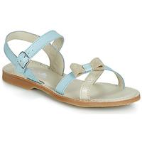 鞋子 女孩 涼鞋 Citrouille et Compagnie JISCOTTE 藍色 / 米色