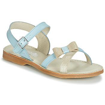 鞋子 女孩 凉鞋 Citrouille et Compagnie JISCOTTE 蓝色 / 米色