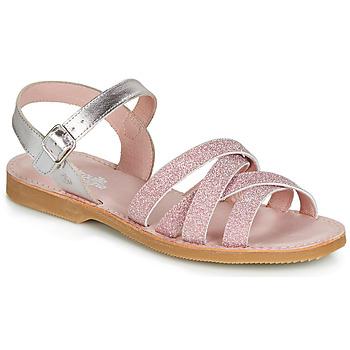 鞋子 女孩 凉鞋 Citrouille et Compagnie JARDINA 玫瑰色