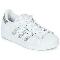 鞋子 女孩 球鞋基本款 Adidas Originals 阿迪達斯三葉草 SUPERSTAR C 白色 / 銀灰色