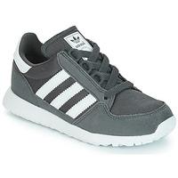 鞋子 兒童 球鞋基本款 Adidas Originals 阿迪達斯三葉草 OREGON 灰色